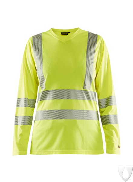 3485 Blåkläder Dames T-Shirt Lange Mouw High Vis