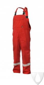 Mammoet multinorm Bib overall rood 610009