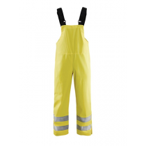 1386 Blåkläder Bretelregenbroek High Vis Level 3