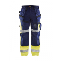 1508 Blåkläder werkbroek met stretch High Vis
