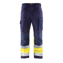 1562 Blåkläder Softshell  Werkbroek High Vis