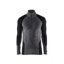 4899 Blåkläder Onderhemd Merino Met Rits Warm