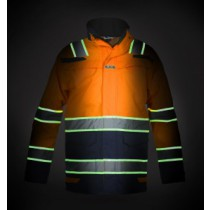 Hydrowear GLOW IN THE DARK Parka Italië Hi-Vis/Navy EN20471(Orange or Yellow)