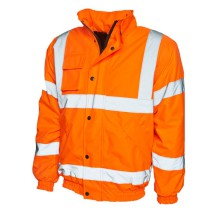 Uneek UC804 Hi-vis bomber jacket orange/yellow
